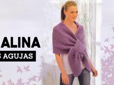 Como tejer CHALINA | Tutorial Fácil | Tejinelas