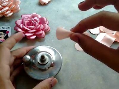 Flor boleada de fita, PARTE 2