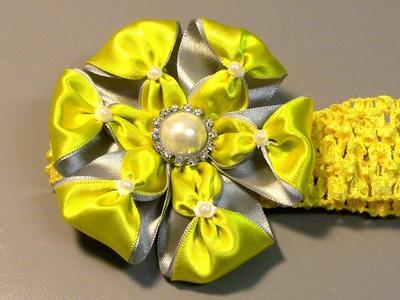 Novo modelo de Flor com duas cores diferente - D.I.Y. TUTORIAL,PAP