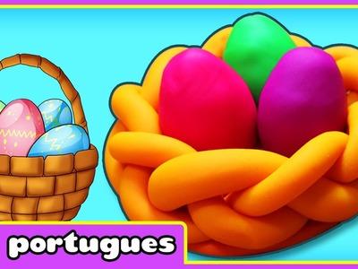 Pascoa DIY | Artesanato de Pascoa | Cesto de Pascoa de Plasticina