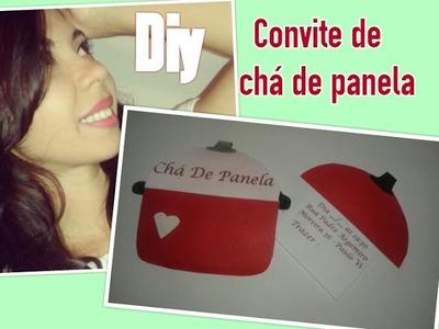 DIY - Convites de Chá de panela