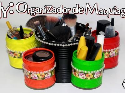 DIY: Organizador de maquiagem (makeup organizer) - Sisters Lellis