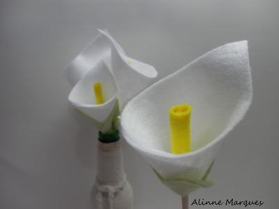 Flor Copo de leite em feltro - Artesanato Passo a passo