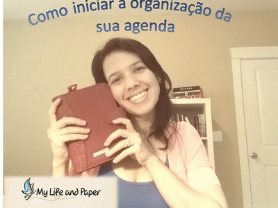 Se organizando com uma agenda.How to organize your life with a planner