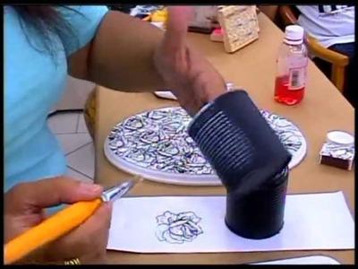 Tânia Islas  aula de artesanato