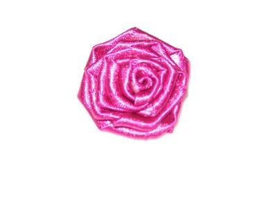 Como fazer flor de fita de cetim - muito fácil - passo a passo DIY