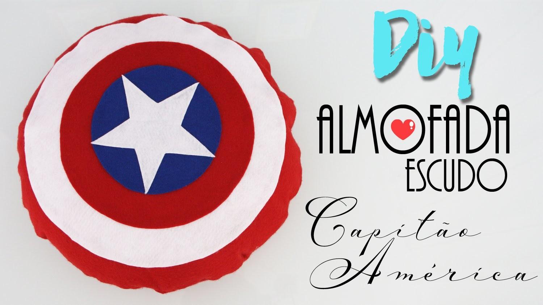 DIY: Almofada Escudo do Capitão América - Sem costura, muito fácil