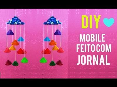 DIY: COMO FAZER MOBILE MENSAGEIRO DO VENTO USANDO JORNAL #2