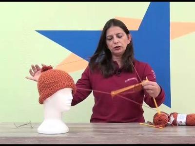 Gorro Begônia em tricô com Cisne Lolita com Cristina Amaduro