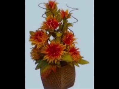 Mega Flores - Flores em EVA - CRISÂNTEMO (passo a passo)