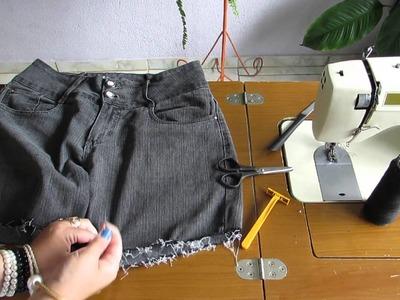 Transformando Calça Jeans em shorts