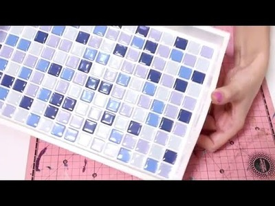 Artesanato: Imitação de Azulejo em Bandeja de MDF