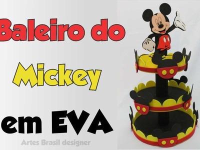 DIY Baleiro do mickey de EVA e isopor