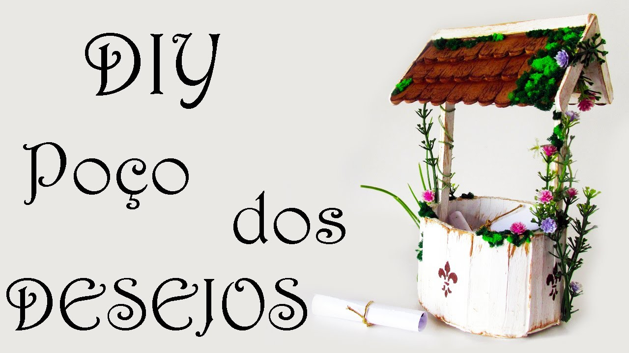 DIY: Como Fazer Poço dos Desejos para Decorar Quarto (Artesanato Palitos de Picolé)