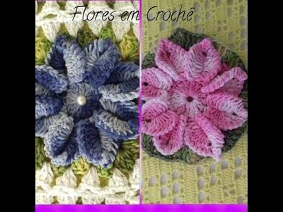 Flor de Crochê Para Aplicação em Diversos Trabalhos. COM CRISTINA COELHO ALVES