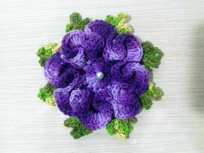 Flor de crochê para aplicação # Flor Violeta