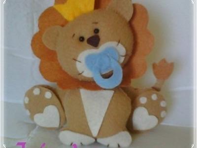 Leão Baby em feltro  - passo a passo com molde