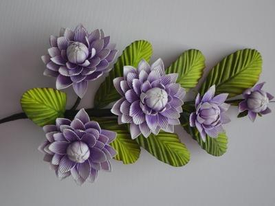 Mega Flores - Flores em EVA - Ninféia (passo a passo)