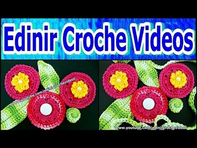 MINI FLORES + MINI FOLHAS EM CROCHE PARA INICIANTES - 113