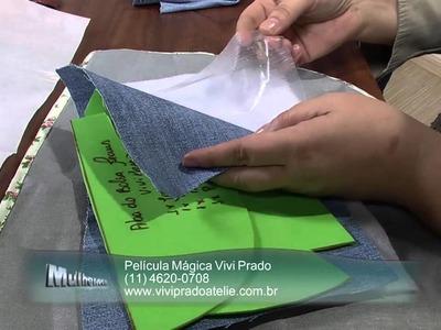 Mulher.com 07.06.2013 Vivi Prado - Bolsa com reciclagem jeans Parte 1.2