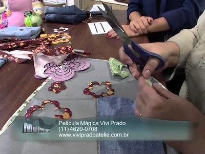 Mulher.com 07.06.2013 Vivi Prado - Bolsa com reciclagem jeans Parte 2.2
