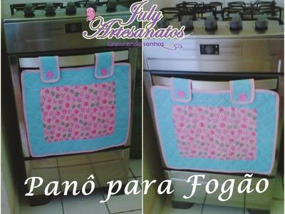 PANÔ PARA FOGÃO - passo a passo(serie arrumando a cozinha)