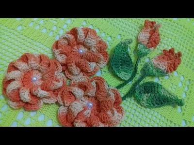 Passo a Passo da Flor em Crochê.  Cristina Coelho Alves