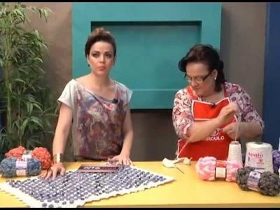 Tapete com Lã Pom Pom