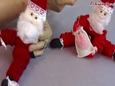 Vídeo Aula: Papai Noel de Fuxico - Artesanato na Rede [Parte 3]