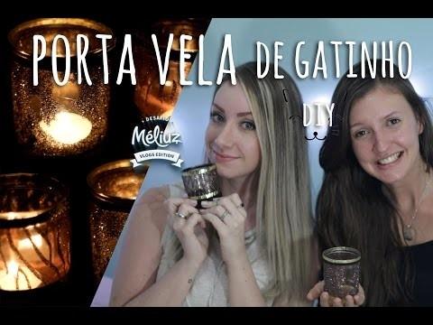 Desafio Méliuz | DIY - Porta velas de gatinho | Bruna Ferrari