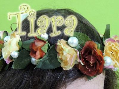 Artesanato passo a passo: Tiara de flor e pérolas