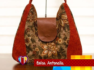 Bolsa de tecido Antonella - Maria Adna Ateliê - Cursos e aulas de bolsas de tecido e couro