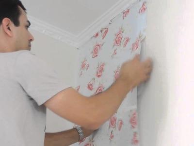 Colocando papel de parede (passo a passo)
