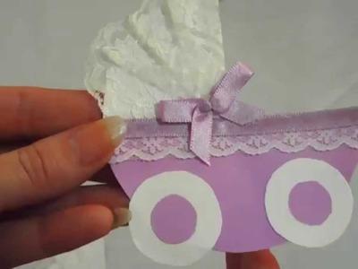 Como fazer convite para chá de bebê fácil artesanato Pinterest