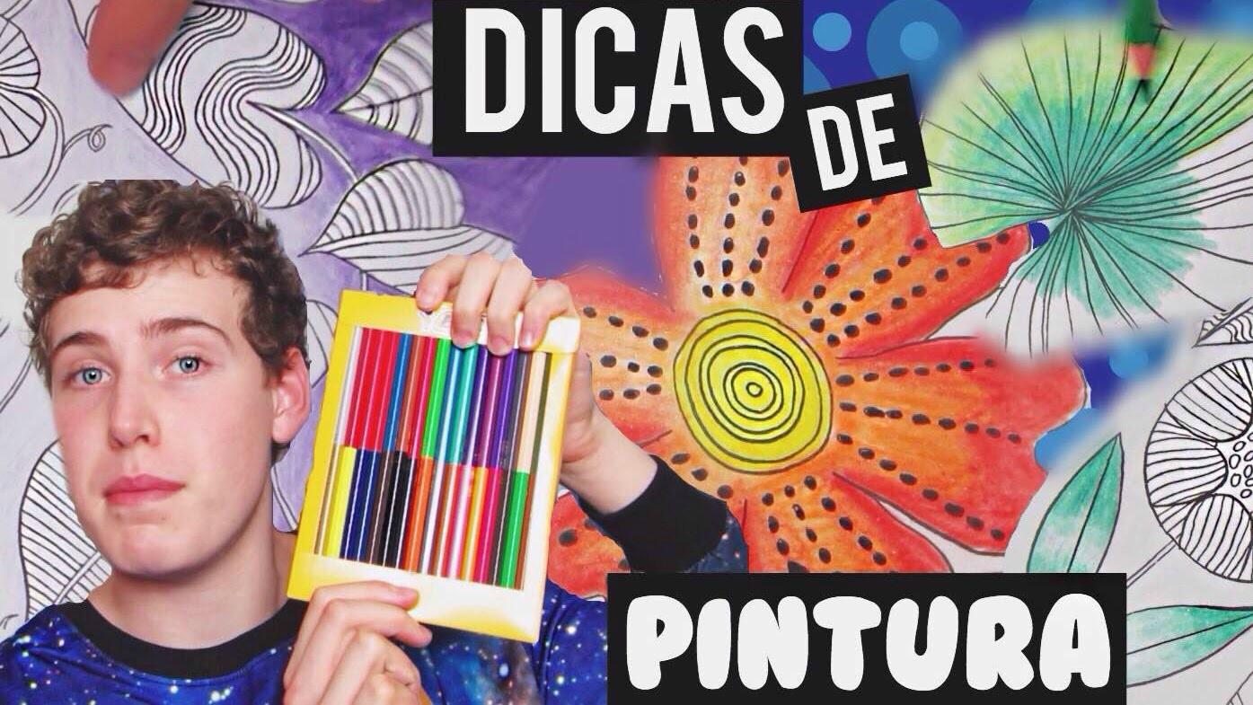 Dicas de pintura com lápis para seu livro de colorir