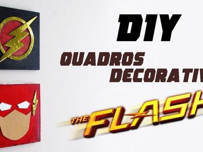 DIY: Como Fazer Quadros Decorativos THE FLASH | Ideias Personalizadas - DIY