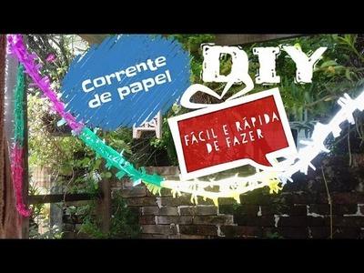 DIY.CORRENTE DE PAPEL- IDEIA PARA DECORAÇÃO DE FESTA. Paper craft ideas tutorial