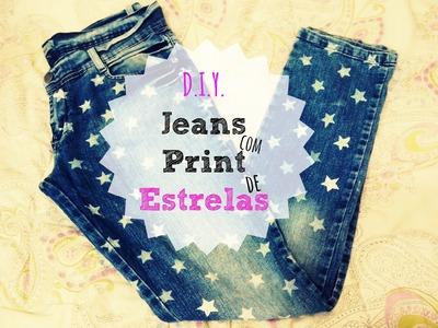 [DIY] Jeans com print de estrelas