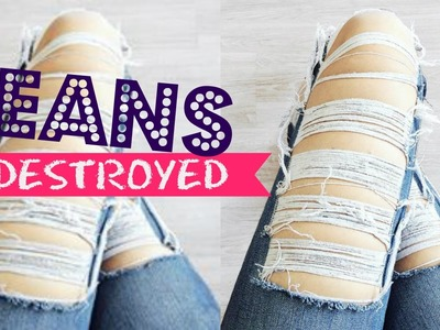 DIY | Jeans DESTROYED | Rasgado baphônico! :O