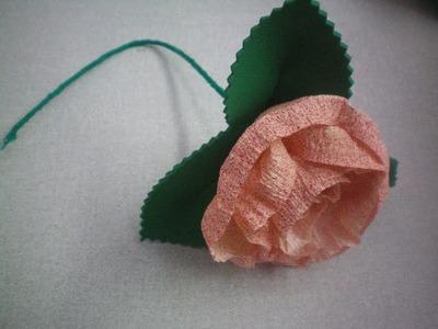 Flor de Papel Crepom - passo a passo