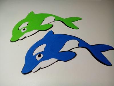 Golfinho em EVA com Reginas Art's passo a passo