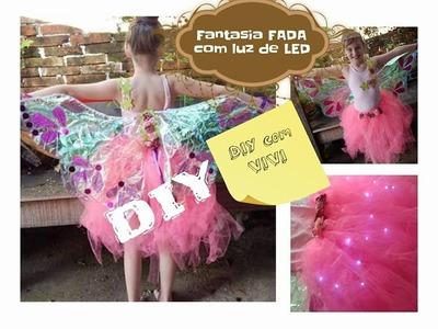 IDEIA Fantasia Fada com luz de LED. Halloween costume idea