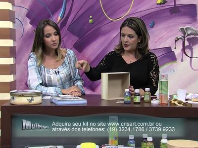 Mulher.com 11.04.2014 Marisa Magalhães - Caixa borboleta Parte 1.2