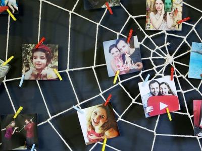 Mural de fotos teia de aranha