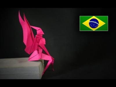Origami: Fada - Instruções em português PT BR