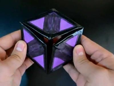 Origami: Hexaflexagon. Hexaflexágono 3D - Instruções em português PT BR