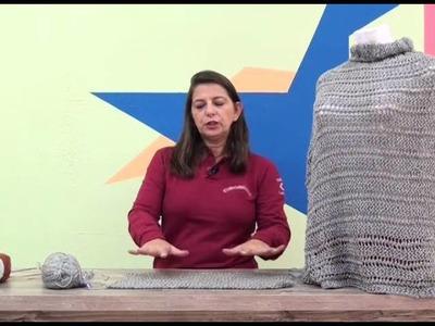 Pelerine Vitoria Regia em tricô com Cisne Oregon com Cristina Amaduro