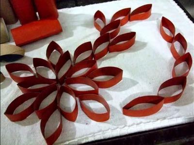 Rolinho de papel higiênico(flor diferente)-painel de parede
