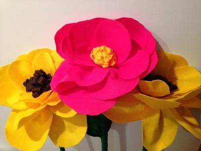 Tutorial Flor gigante de Feltro - Giant Felt Flower