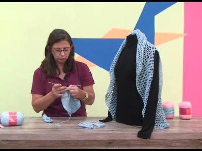 Colete em tricô e crochê -  Cristina Amaduro